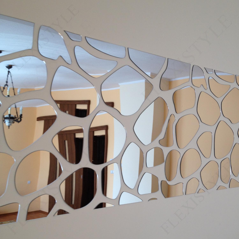 Large acrylic mirror decor ROCKS 140x70cm, Bedroom, Living ...