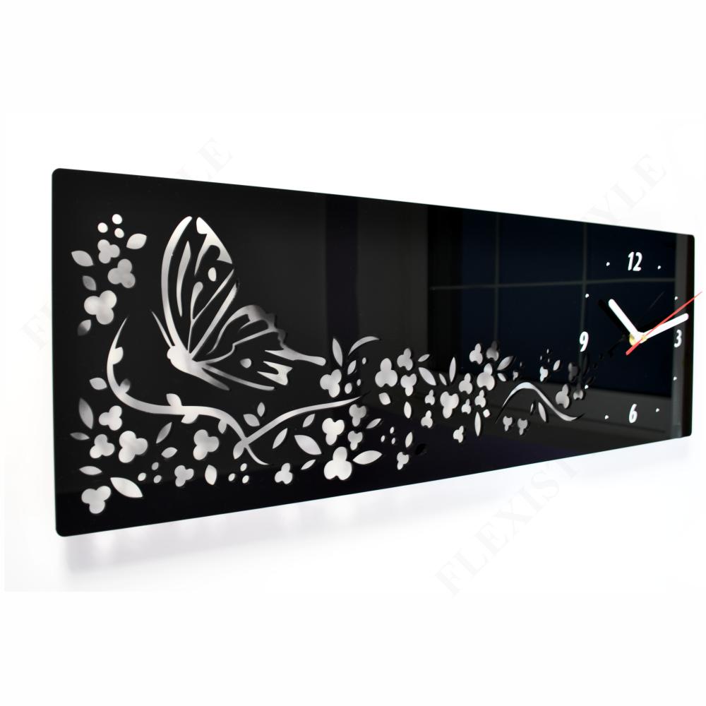 Orologio da parete moderno farfalle 15 colori disponibili for Orologio da muro farfalle