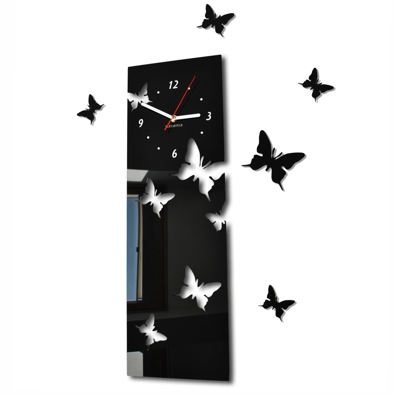 Zegar ścienny Motylki długi