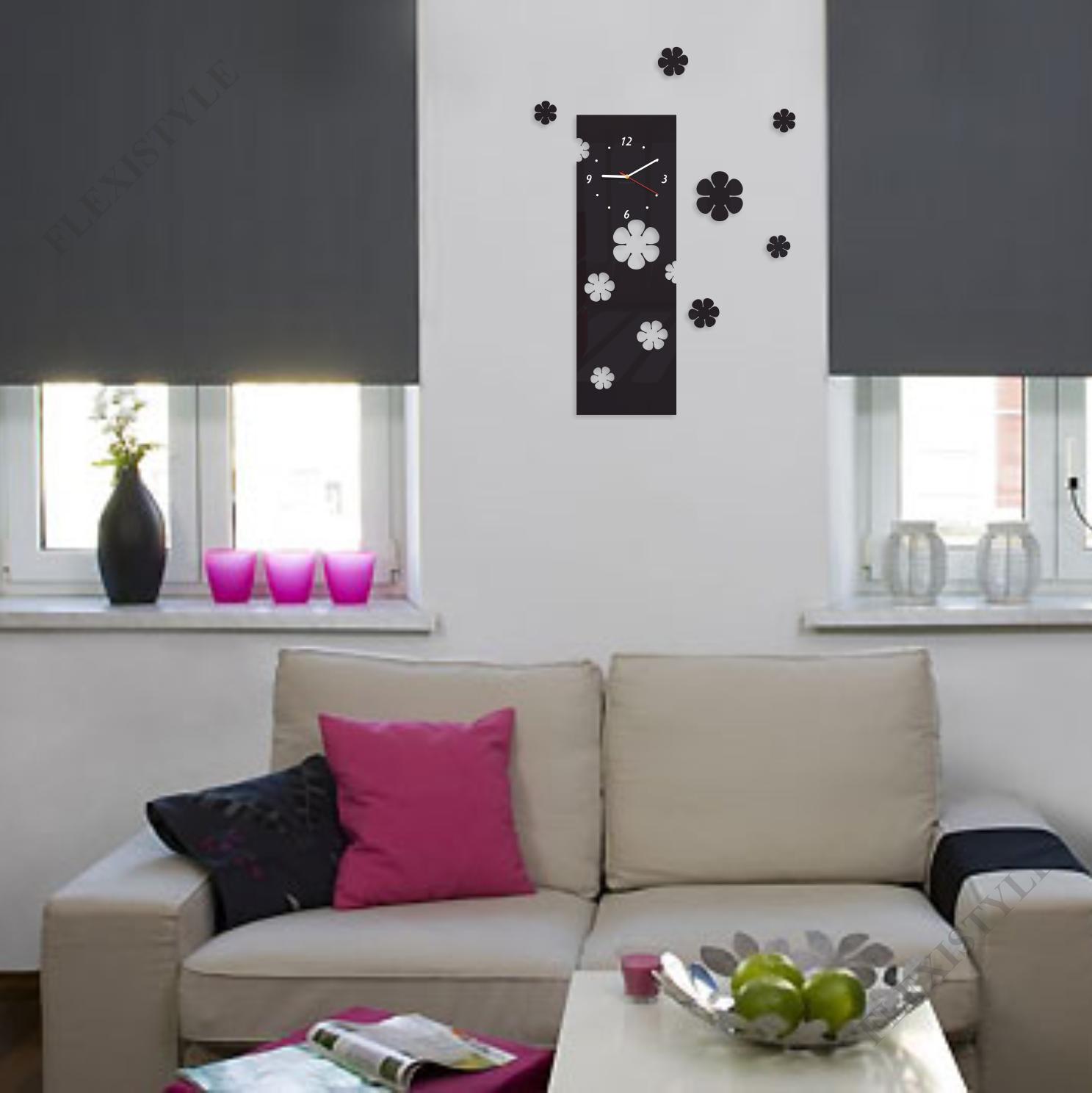 Orologio da parete moderno fiori verticale 15 colori - Colori da parete ...
