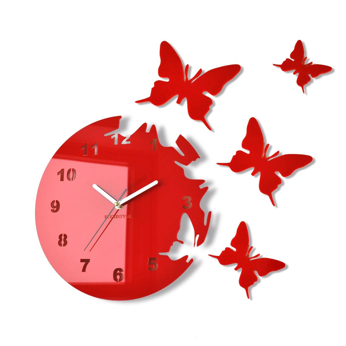 Zegar motylki okrągły